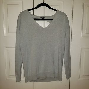 Express Oversized Sweater with Open Back